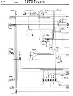 repair-manuals: Toyota Corolla 1975 Wiring Diagrams