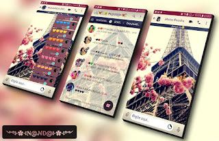 Flowers & Tower Theme For YOWhatsApp & Fouad WhatsApp By Nanda
