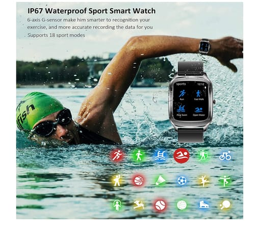 Hongmed H68 Fitness Tracker with Heart Rate Smart Watch