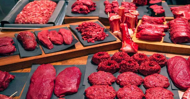 What do most of the families do with the meat?