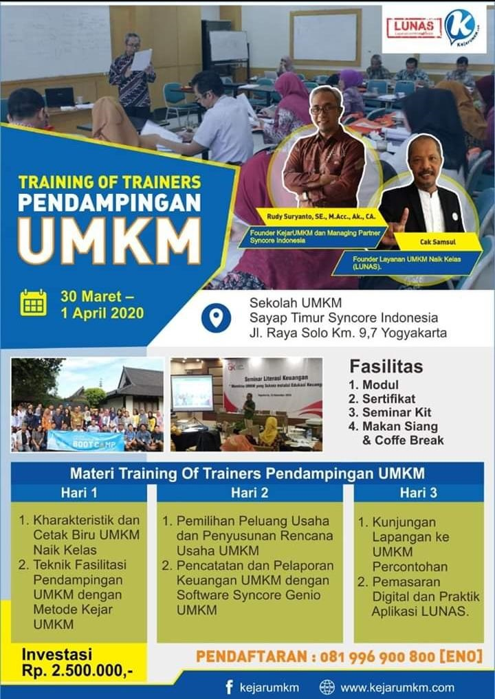 ToT (Training of Trainers) Pendampingan UMKM