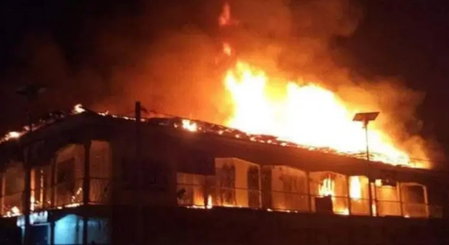 Heavy fire guts fabrics section of Cairo Market in Oshodi, Lagos State