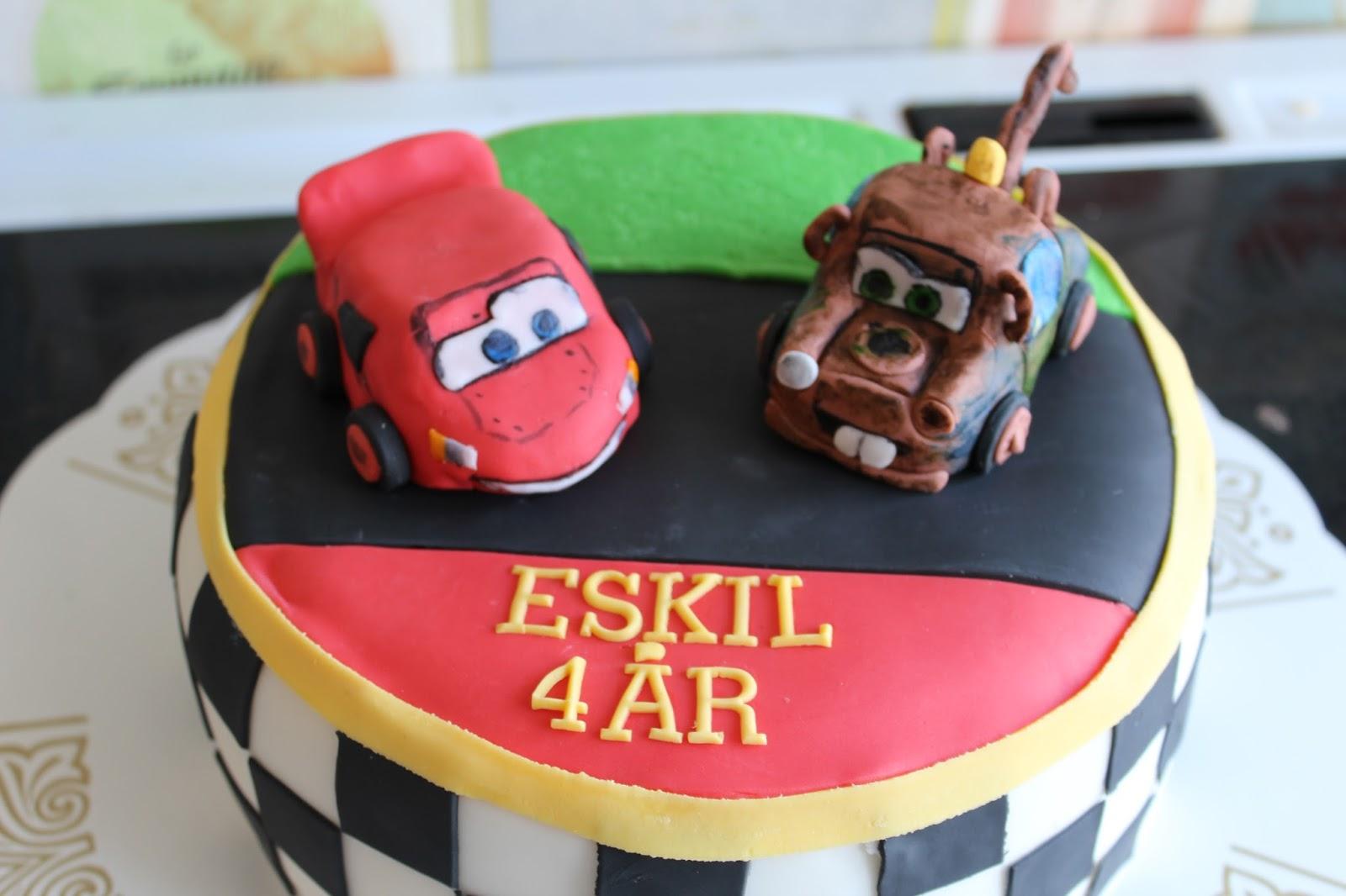Hobbyholken  Blixten och bärgarn tårta 2bbddf2e5b86d