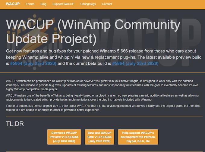 WACUP el sucesor de Winamp en 2020