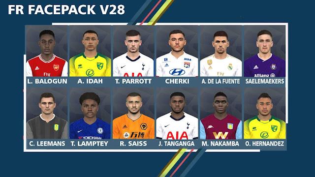 FR Facepack V28 For PES 2017