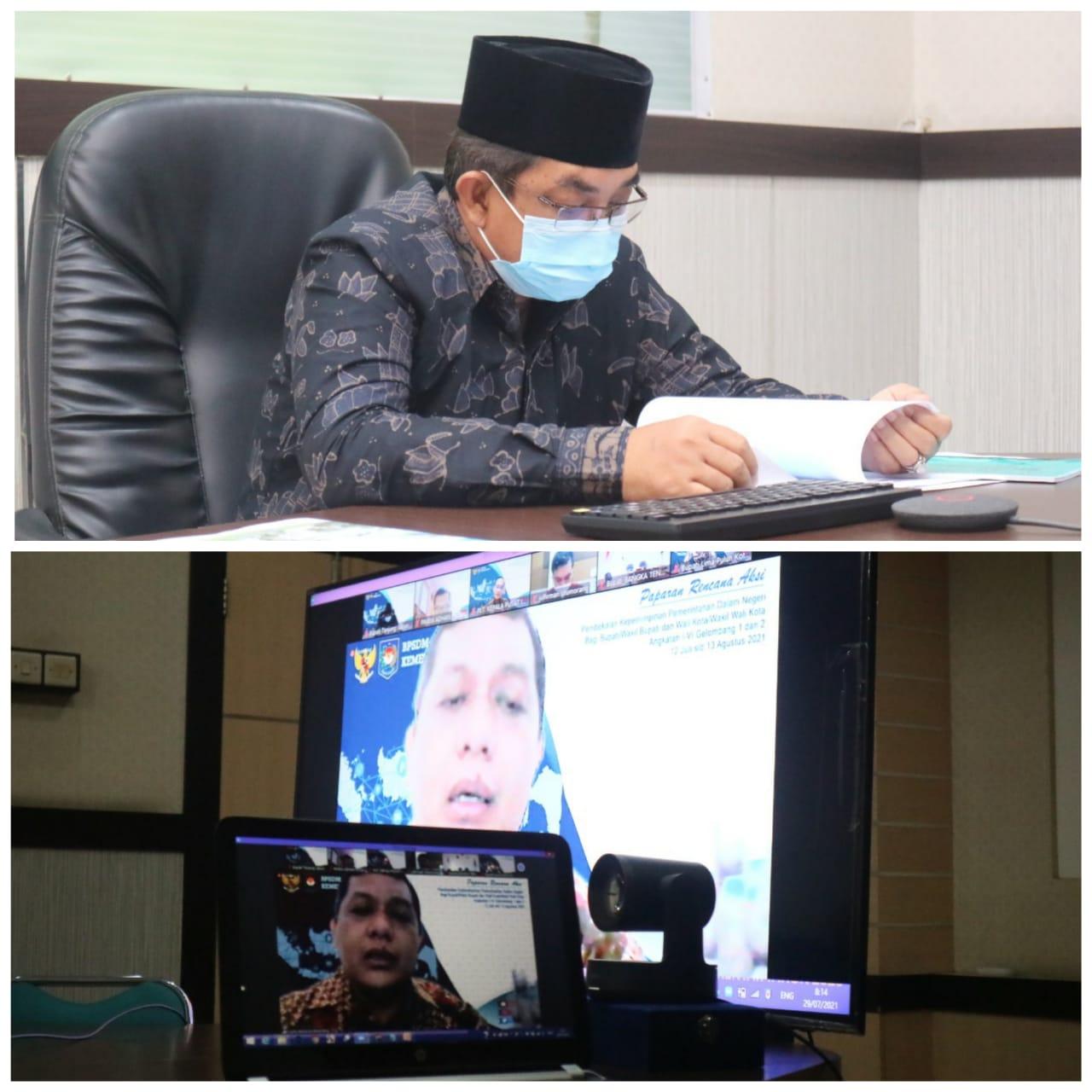 Bupati Tanjabbar Ikuti Pembekalan Kepemimpinan Pemerintahan Dalam Negeri Hasil Pemilihan Kepala Daerah Serentak Tahun 2020