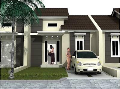 Model Foto Desain Rumah Minimalis 1 lantai Type 36
