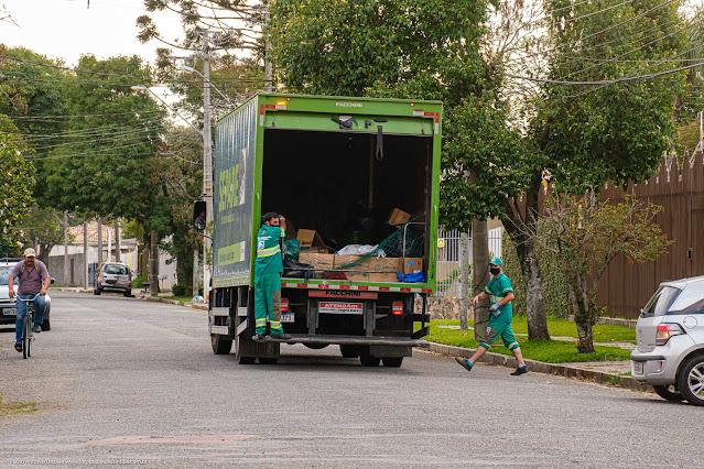 Coleta de lixo reciclável
