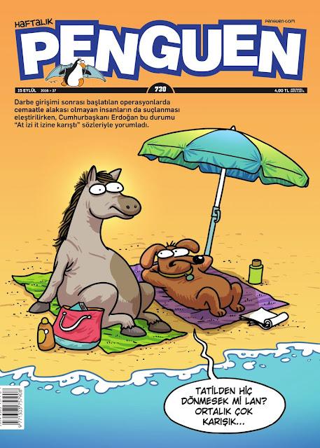 Penguen Dergisi - 15 Eylül 2016 Kapak Karikatürü