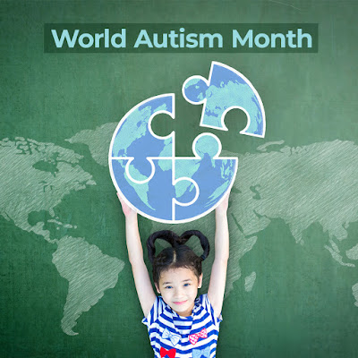 Graphic shows a child holding up a puzzle piece of the world