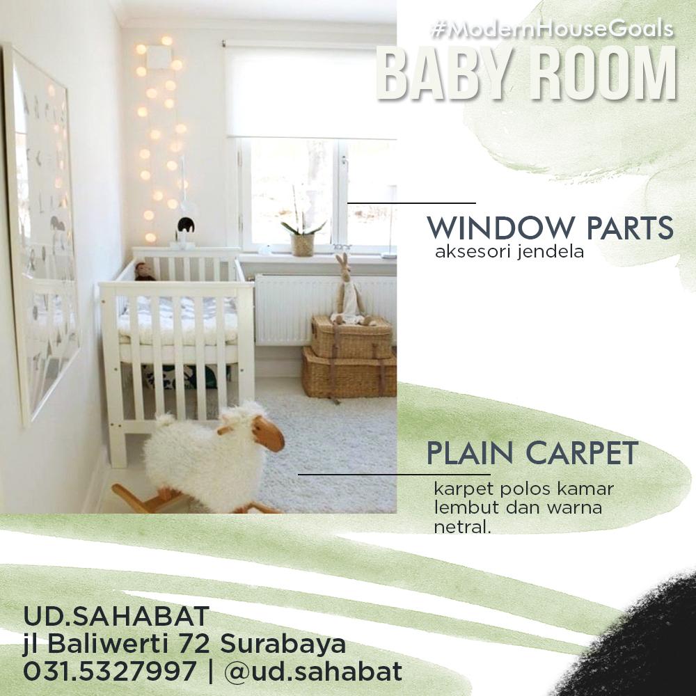 jual karpet polos kamar bayi minimalis ud sahabat surabaya