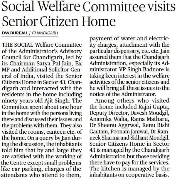 Social Welfare Committee visits Senior Citizen Home