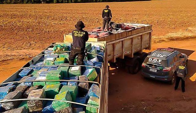 Polícia faz a maior apreensão de drogas da história do Brasil