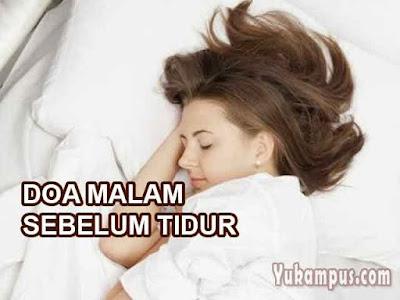doa malam sebelum tidur kristen