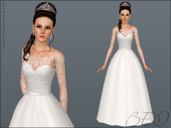 My Sims 3 Blog: Wedding Dress 18 By BEO