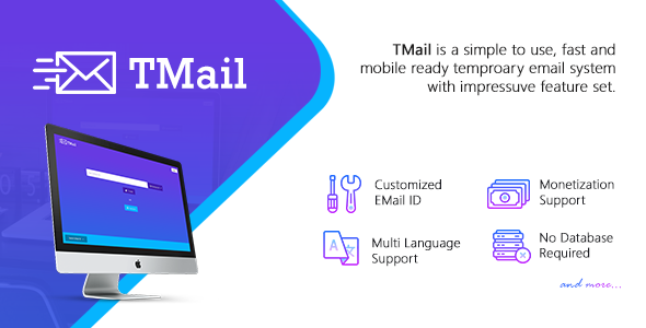 Multi Domain Temporary Email System Free Download TMail v4.3.6 - Multi Domain Temporary Email System Download