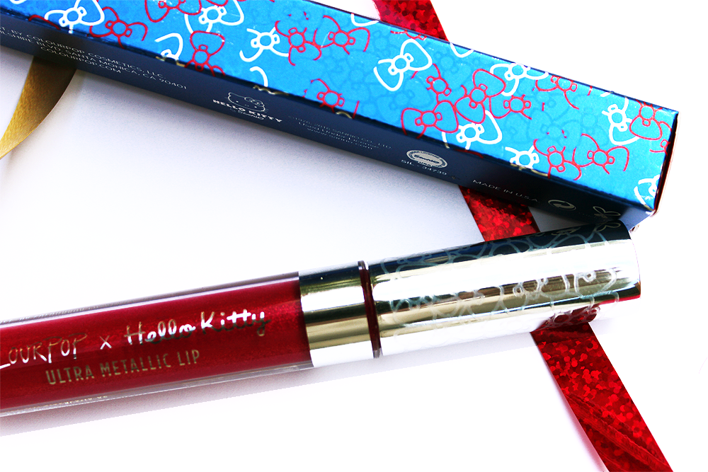 Coloupop Surprise Ultra Metallic Lip swatches and review packaging