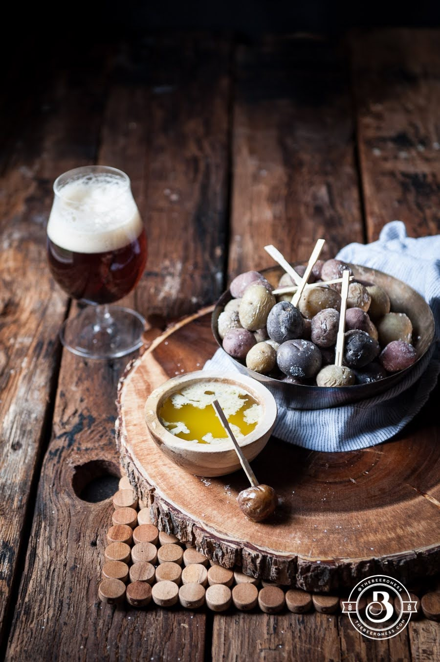 Salt Roasted Mini Potatoes with Garlic Sage Beer Butter | Courtesy of The Beeroness