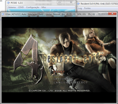 Configurando Menu do Emulador PCSX2 site jogo sem vírus PS2