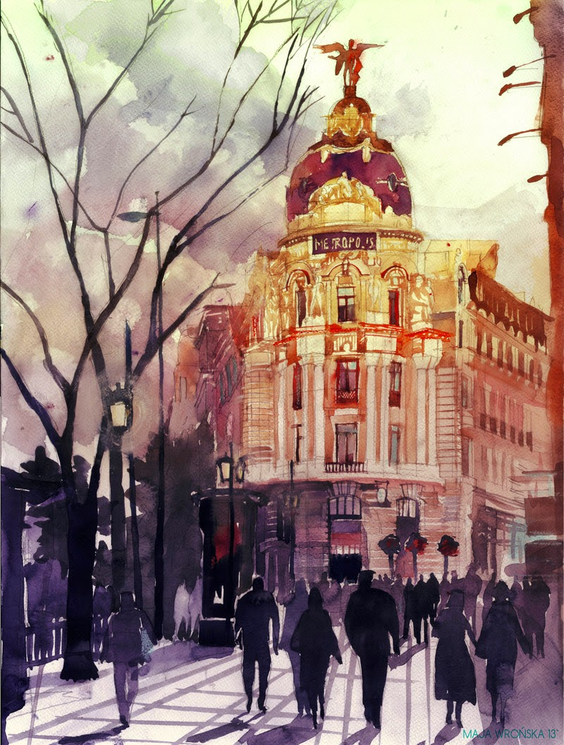 14-Madrid-Maja-Wronska-Travels-Architecture-Paintings-www-designstack-co