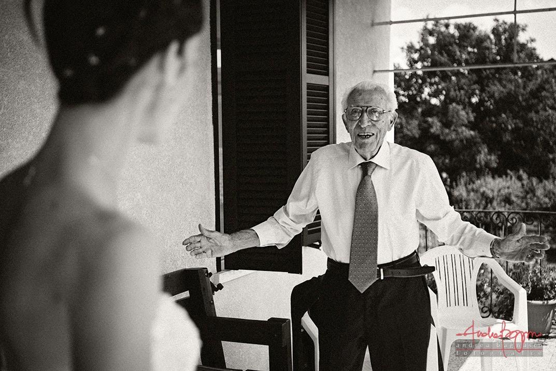 sposa e suo nonno matrimonio Alessandria