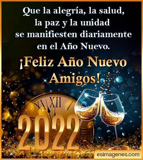 mensajes de año nuevo 2022 para amigos