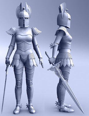 Angel Armor for Genesis 3 Female(s)