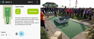 The Hastings Adventure Golf App and hole 2 in real-life - it's the trickiest hole on the Crazy Golf course in Hastings
