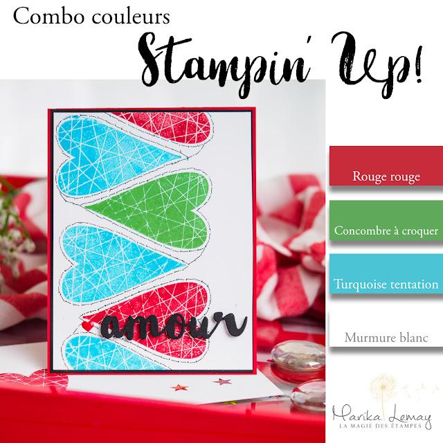 combinaison de couleurs stampinup pour pinterest