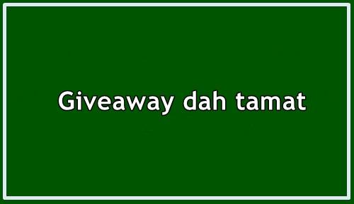 Giveaway Sudah Tamat