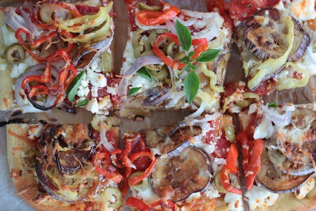 πίτσα λαχανικών