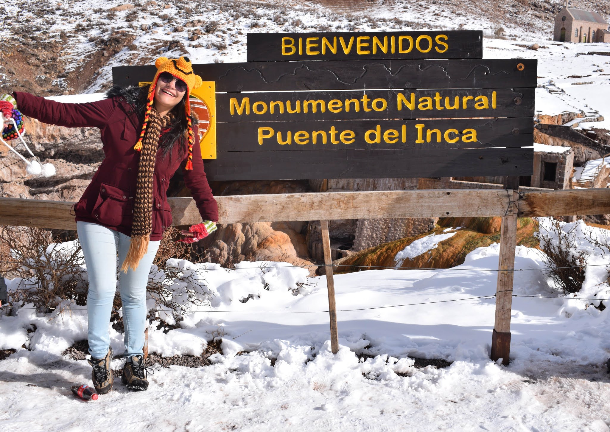 placa escrito puente del inca