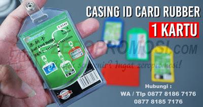 Casing id card karet, Frame id card rubber, Casing Id Card (Holder), card holder karet 1 kartu