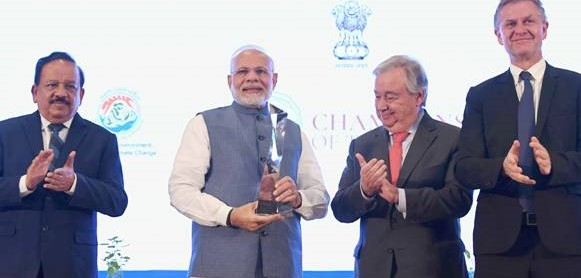 Prime Minister Modi conferred Champions of Earth Award 2018 for Policy Leadership