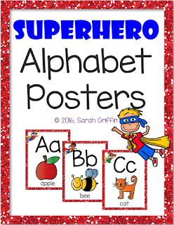 https://www.teacherspayteachers.com/Product/Superhero-Alphabet-Posters-2695788
