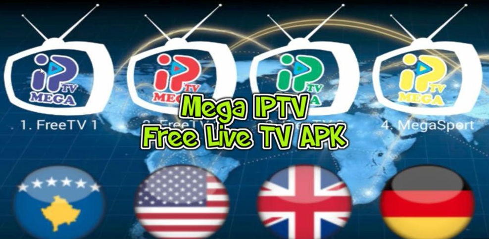 Download Mega IPTV Mod apk with activation code