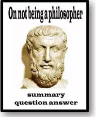on not being a philosopher question answer