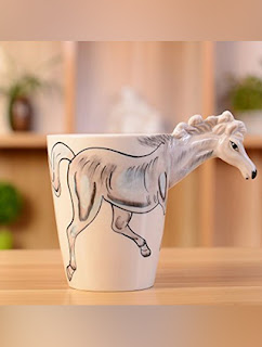 Horse Ceramic Coffee Mugs