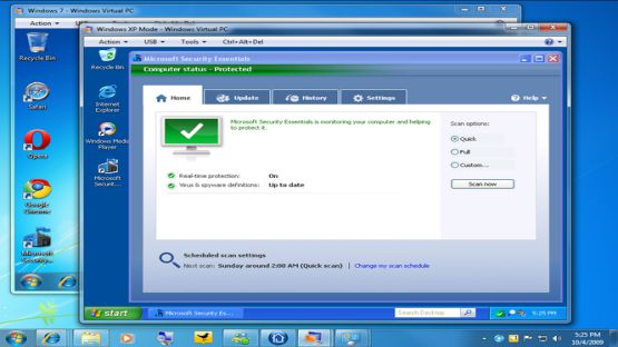 Microsoft security essentials screenshot 2