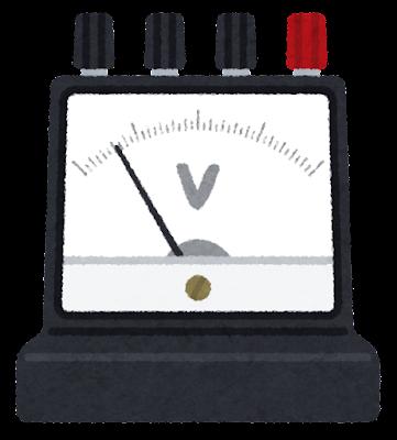 電圧計のイラスト