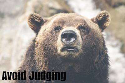 avoid judging