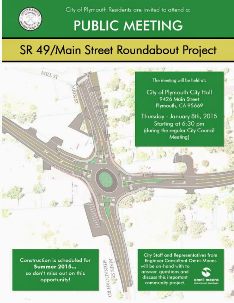 AmadorGovernment com: Plymouth-Highway 49 Main Street RoundaBout