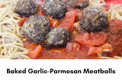 Baked Garlic-Parmesan Meatballs