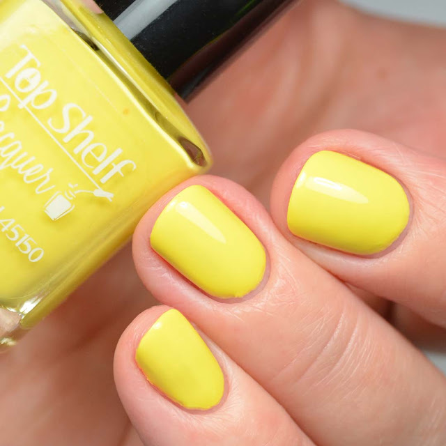 yellow nail polish swatch
