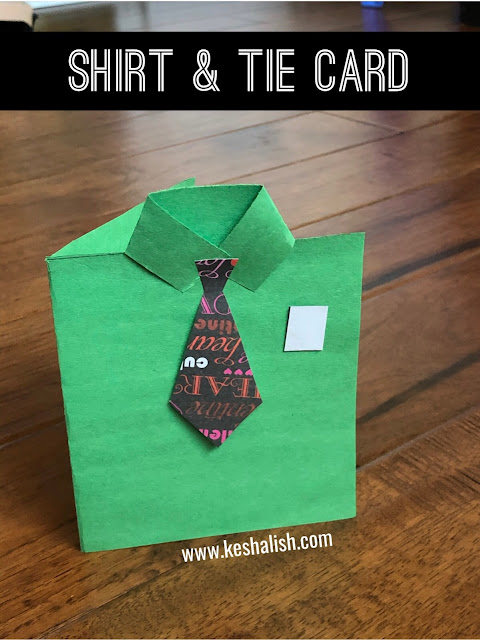 fathers day shirt and tie card craft