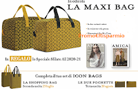 Logo AMICA di Luglio 2020 in edicola con il Set di Icon Bags ( Maxi Bag, Shopping bags e pochette)