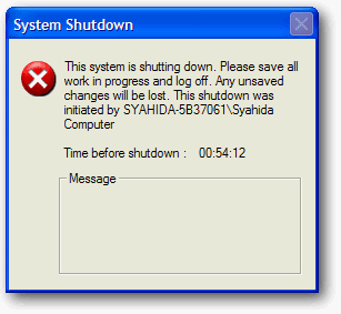 shutdown Windows Xp