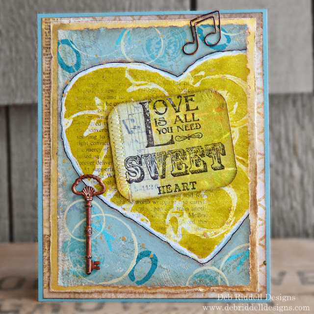 Sweetheart Valentine Mixed Media Plaque