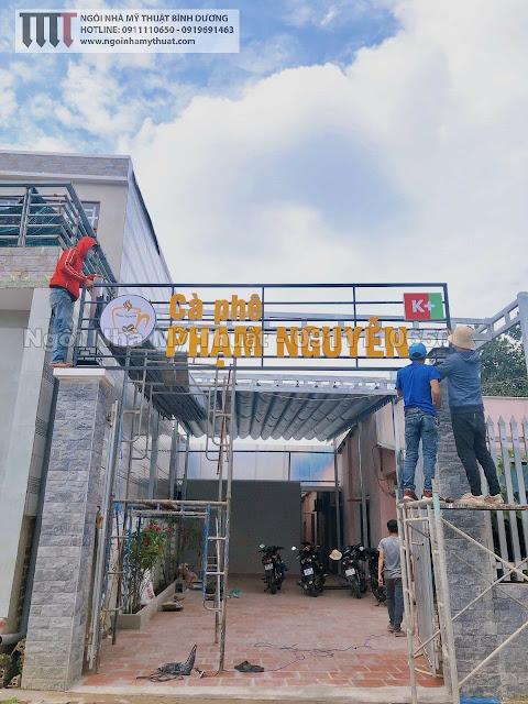 Thi công quán cafe đẹp tại Thủ Dầu Một