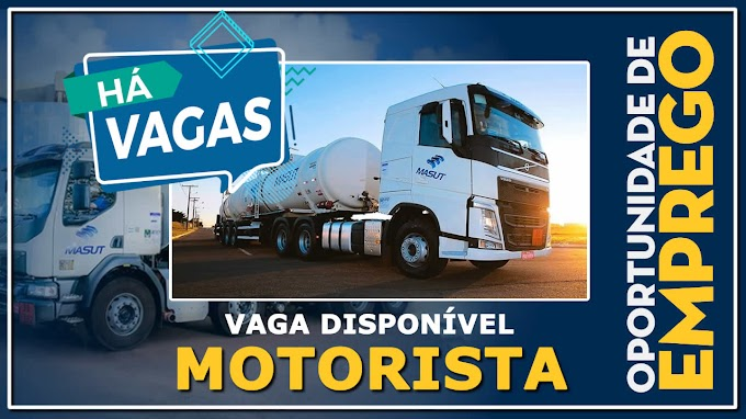 Transportadora Masut abre vagas para Motorista Bitrem